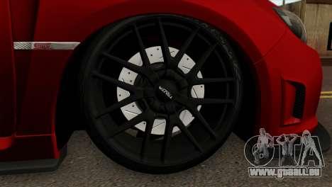 Subaru Impreza WRX STI Stanced pour GTA San Andreas sur la vue arrière gauche