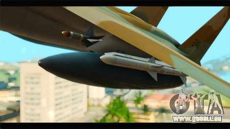 Boeing F-15C IAF für GTA San Andreas rechten Ansicht