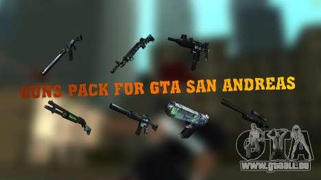 Guns Pack pour GTA San Andreas