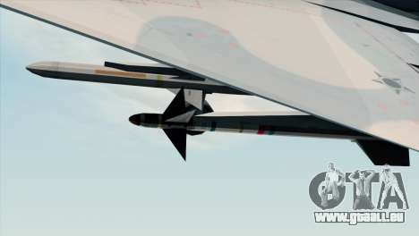 Dassault Mirage 2000 Forca Aerea Brasileira für GTA San Andreas rechten Ansicht