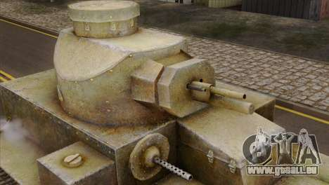 T2 Medium Tank für GTA San Andreas rechten Ansicht