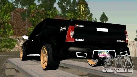 Isuzu D-Max X-Series pour GTA San Andreas sur la vue arrière gauche