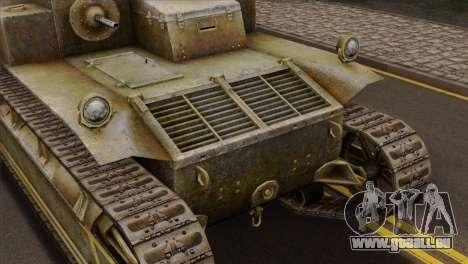 T2 Medium Tank für GTA San Andreas Rückansicht