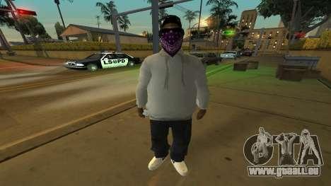Ballas Skin Pack pour GTA San Andreas troisième écran