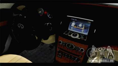 Infiniti M56 für GTA San Andreas rechten Ansicht