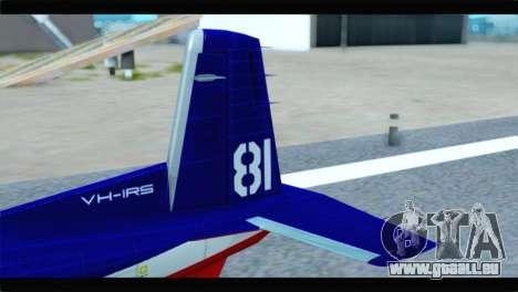 Beechcraft T-6 Texan II Red für GTA San Andreas zurück linke Ansicht