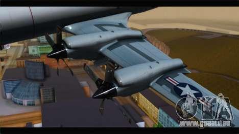 Lockheed P-3C Orion US Navy VP-24 pour GTA San Andreas vue de droite