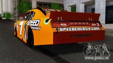 NASCAR Dodge Charger 2012 Short Track pour GTA San Andreas laissé vue