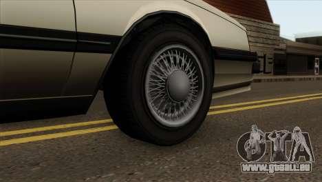 GTA 4 Willard II pour GTA San Andreas sur la vue arrière gauche