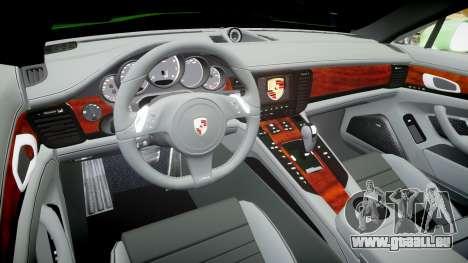 Porsche Panamera Turbo 2010 pour GTA 4 Vue arrière