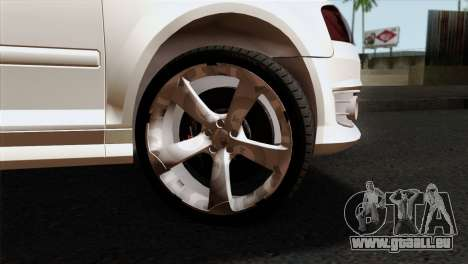 Audi S3 2011 pour GTA San Andreas sur la vue arrière gauche