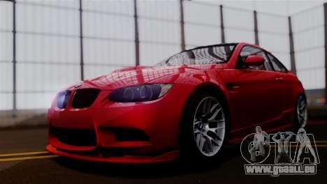 BMW M3 E92 GTS 2012 v2.0 Final pour GTA San Andreas sur la vue arrière gauche