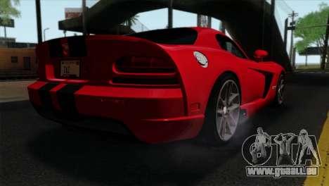 Dodge Viper SRT10 v1 pour GTA San Andreas laissé vue