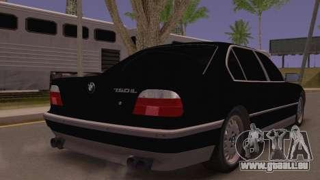 BMW 750iL E38 pour GTA San Andreas laissé vue