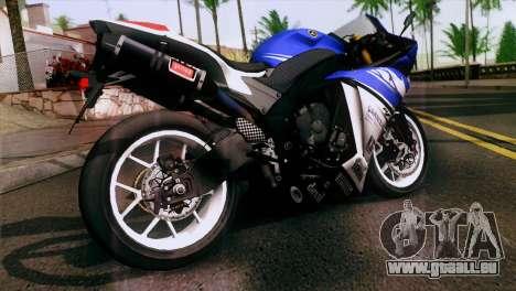 Yamaha YZF-R1 PJ pour GTA San Andreas laissé vue