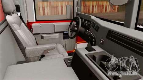 Hummer H1 Fire für GTA San Andreas rechten Ansicht