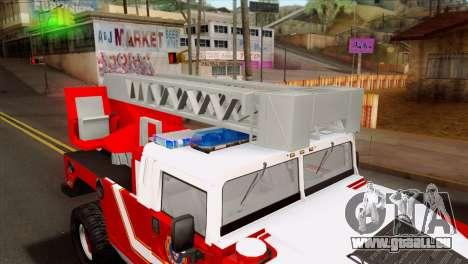 Hummer H1 Fire für GTA San Andreas Rückansicht