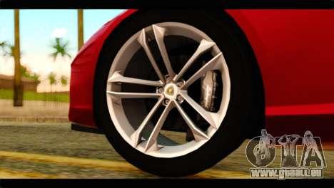 Lamborghini Estoque PJ pour GTA San Andreas sur la vue arrière gauche