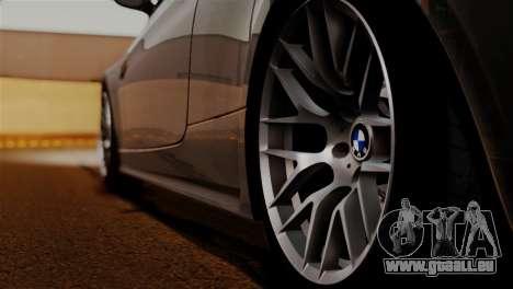 BMW M3 E92 GTS 2012 v2.0 Final pour GTA San Andreas vue de dessus