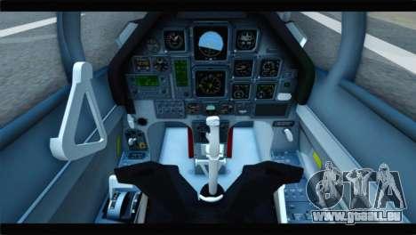 Beechcraft T-6 Texan II Red für GTA San Andreas Rückansicht