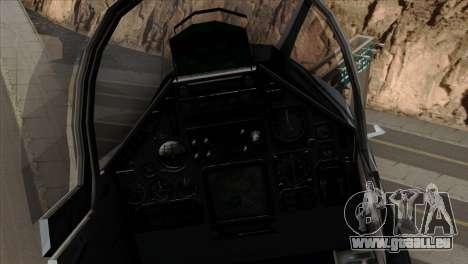 Dassault Mirage 2000 Forca Aerea Brasileira für GTA San Andreas Rückansicht