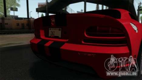 Dodge Viper SRT10 v1 pour GTA San Andreas vue arrière