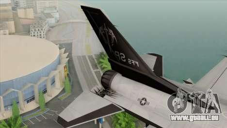 F-16C Fighting Falcon Wind Sword Squadron für GTA San Andreas zurück linke Ansicht