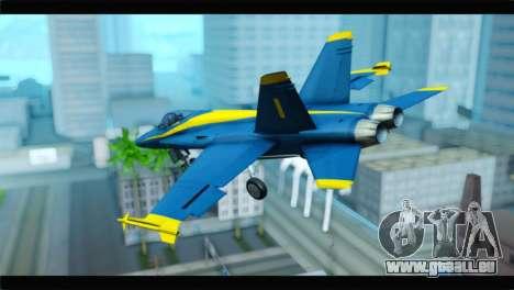 McDonnell Douglas FA-18 Blue Angel für GTA San Andreas linke Ansicht