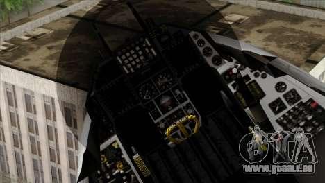 F-16D Fighting Falcon pour GTA San Andreas vue de droite