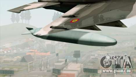 Hawker Hunter F6A pour GTA San Andreas vue de droite