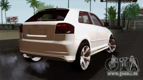 Audi S3 2011 pour GTA San Andreas laissé vue