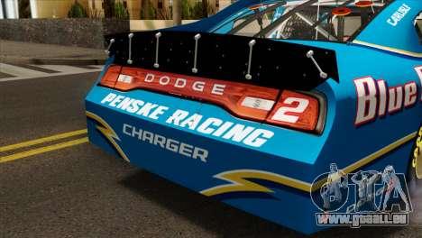 NASCAR Dodge Charger 2012 Plate Track pour GTA San Andreas vue arrière