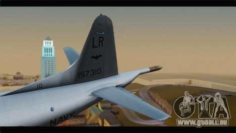 Lockheed P-3C Orion US Navy VP-24 pour GTA San Andreas sur la vue arrière gauche
