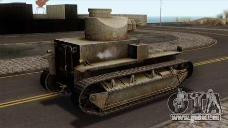 T2 Medium Tank pour GTA San Andreas laissé vue