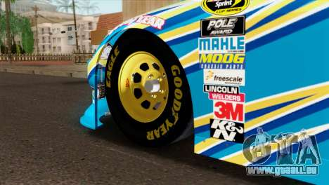 NASCAR Dodge Charger 2012 Plate Track pour GTA San Andreas sur la vue arrière gauche