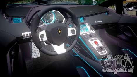 Lamborghini Aventador TRON Edition [EPM] Updated pour GTA 4 est une vue de l'intérieur