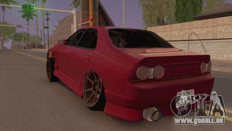 Nissan Skyline ER33 pour GTA San Andreas laissé vue