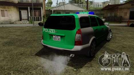 Opel Astra G 1999 Police pour GTA San Andreas laissé vue