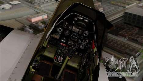 P-51D Mustang Da Quake pour GTA San Andreas vue de droite