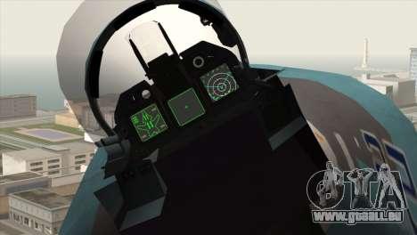 SU-47 Berkut Winter Camo für GTA San Andreas rechten Ansicht