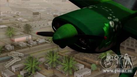 GTA 5 Stuntplane Spunck pour GTA San Andreas vue de droite