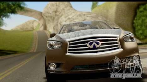 Infiniti JX 35 2013 pour GTA San Andreas sur la vue arrière gauche
