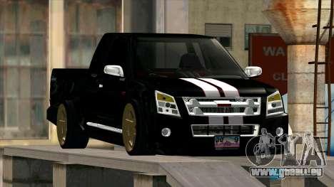 Isuzu D-Max X-Series pour GTA San Andreas vue arrière