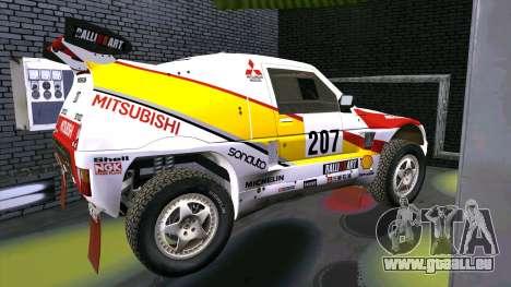 Mitsubishi Pajero pour GTA San Andreas laissé vue