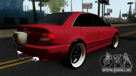 Audi S4 2000 Drag Version pour GTA San Andreas laissé vue