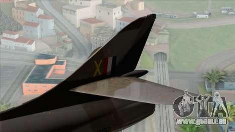 MIG-21MF Romanian Air Force für GTA San Andreas zurück linke Ansicht