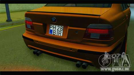 BMW M5 E39 Simply Cleaned für GTA San Andreas Rückansicht
