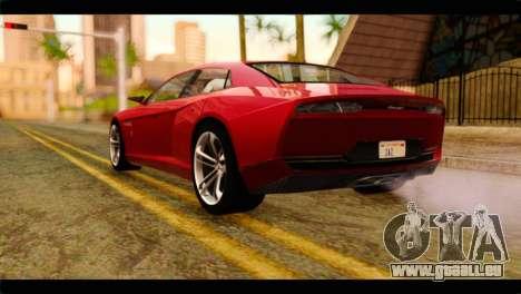 Lamborghini Estoque PJ pour GTA San Andreas laissé vue