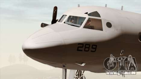 Lockheed P-3C Orion JMSDF Shimofusa für GTA San Andreas Rückansicht