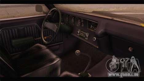 Chevrolet Chevelle 1970 3D Shadow pour GTA San Andreas vue de droite